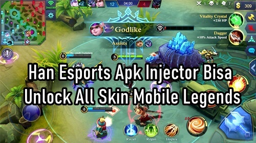 Han Esports Apk Injector Bisa Unlock All Skin Mobile Legends