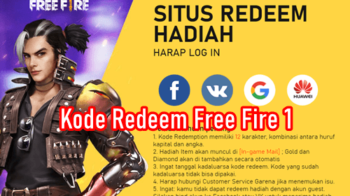 Kode Redeem Free Fire 1 September